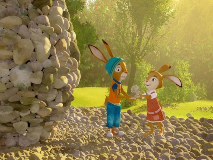 Rabbit school the golden egg